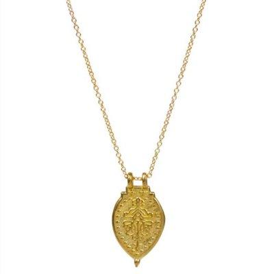 Prayer Necklace Yellow Bronze