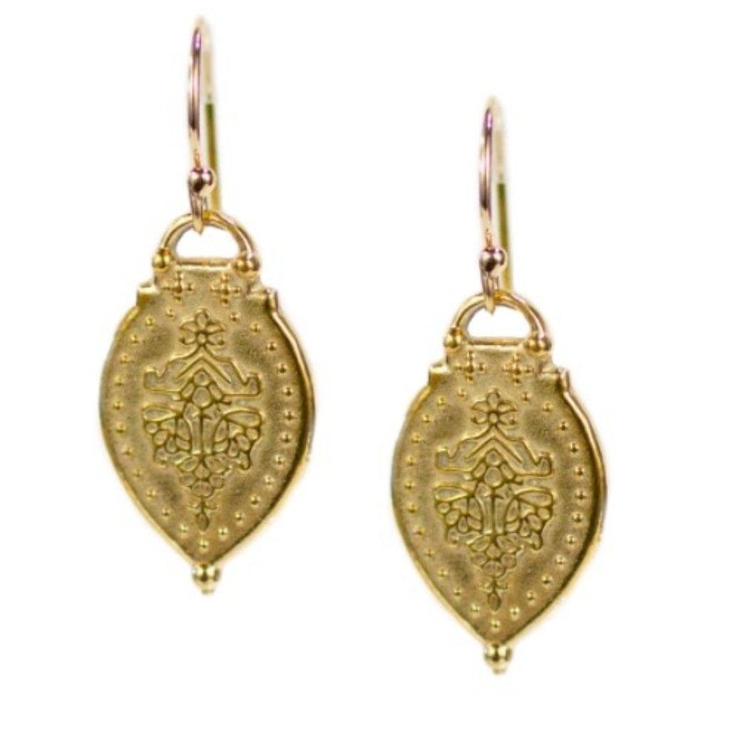Lulu Prayer Earrings Yellow Bronze