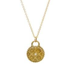 Lulu Marrakesh Necklace Yellow Bronze w Diamond