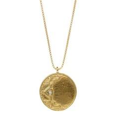 Lulu Ayla Necklace Yellow Bronze w Diamond
