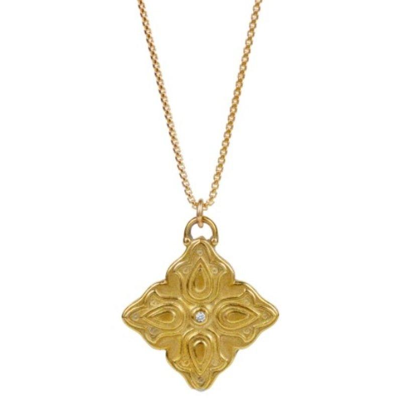 Lulu Shiva Necklace Yellow Bronze w Diamond