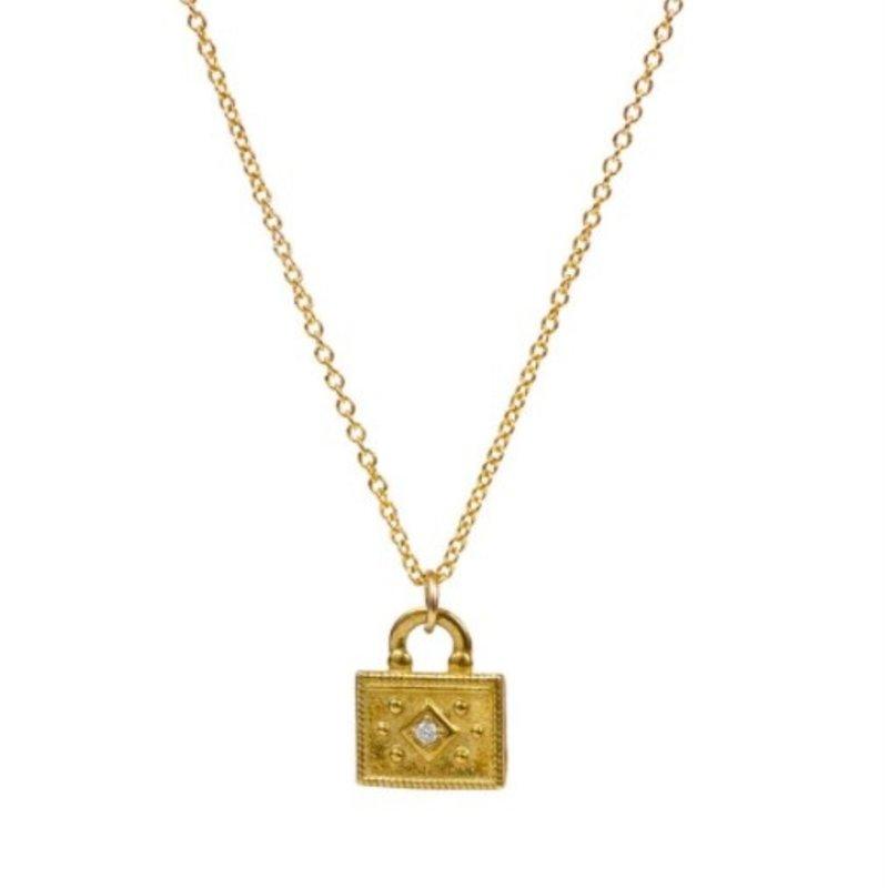 Lulu Nadi Necklace Gold Fill w Diamond
