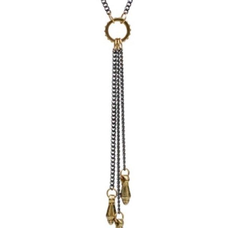 Lulu Neroli Necklace Oxidize Yellow Bronze