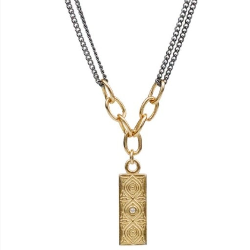 Lulu Empower Necklace DHARMA Oxidized Yellow Bronze