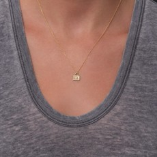 Lulu Nadi Necklace Gold Fill w Diamond