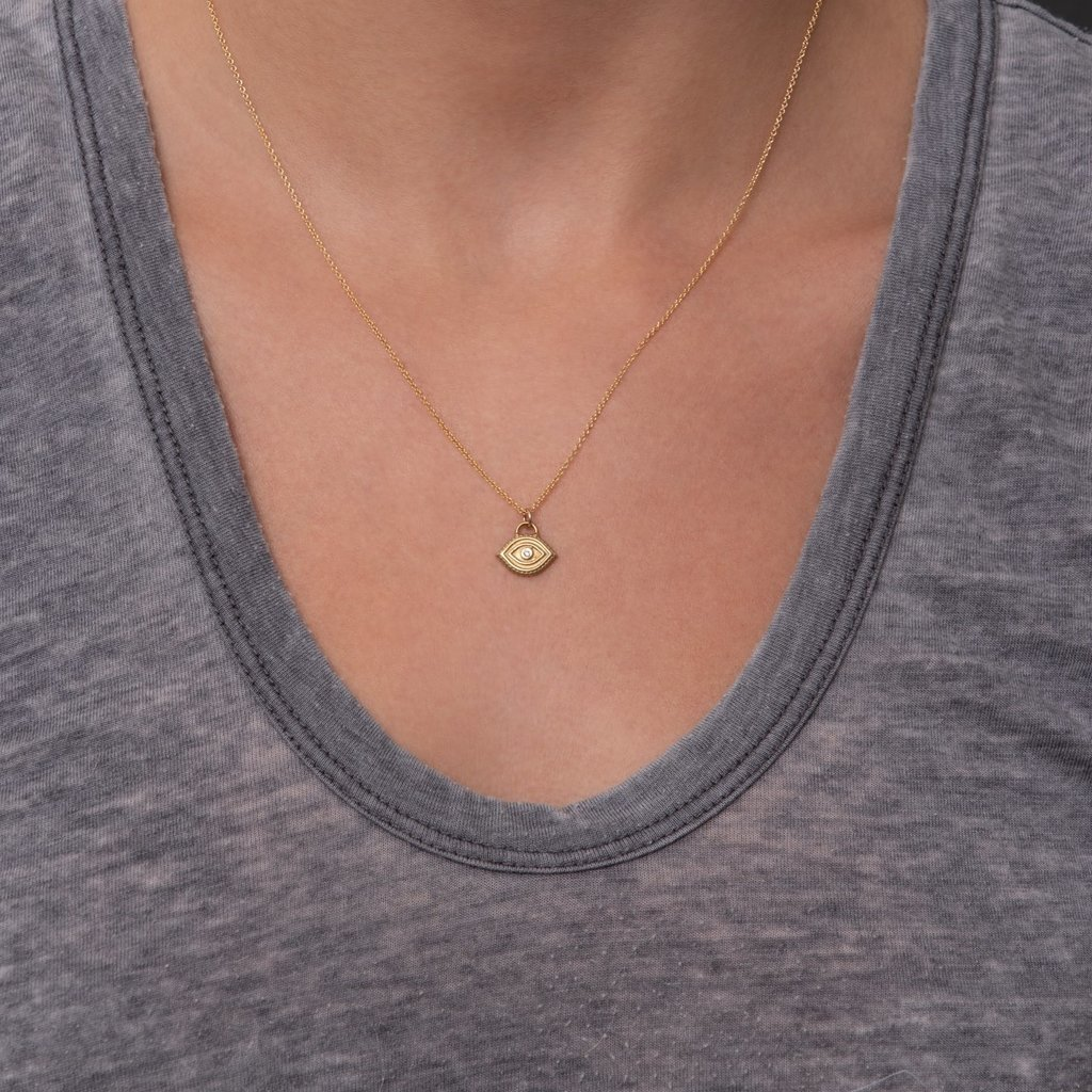 Lulu Flower Necklace Yellow Bronze