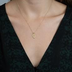 Lulu Prayer Necklace Yellow Bronze