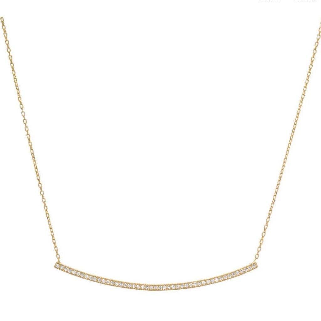 CZ Pave Bar Necklace