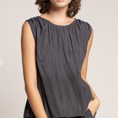 Grade & Gather Pleated Satin Tank
