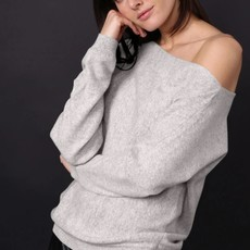 Minnie Rose Cashmere Off The Shoulder Top