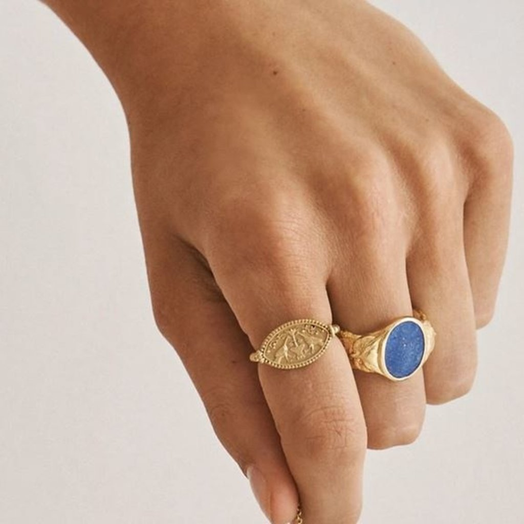 Gaia Gold Ring Size 6.5