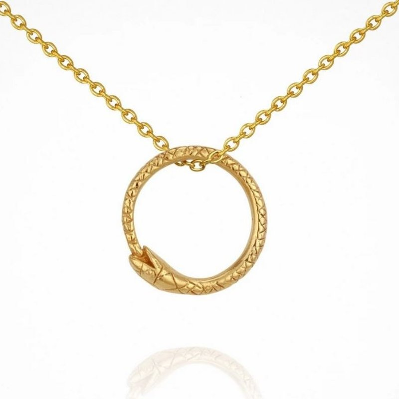 Temple Of The Sun Serpent Gold Necklace