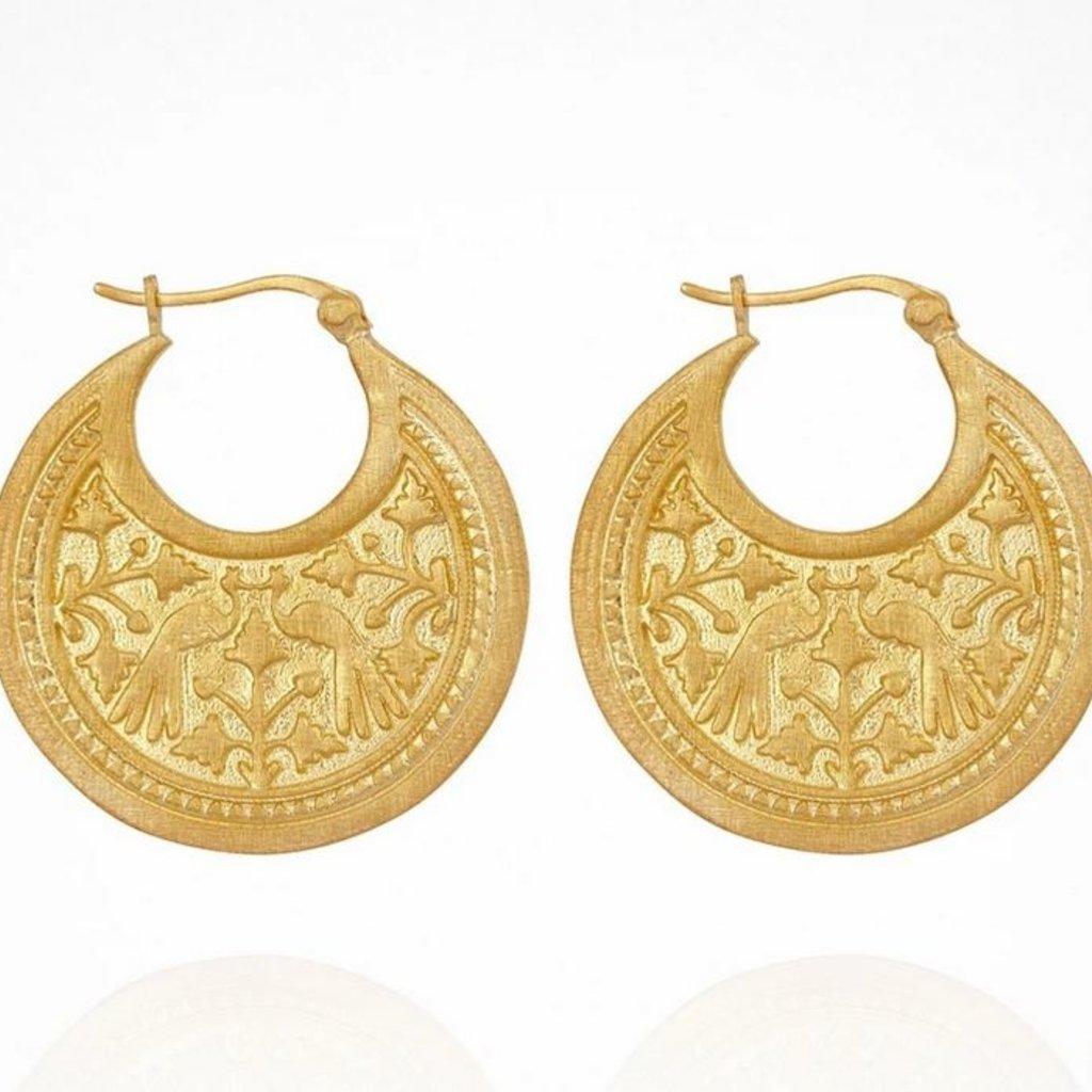 Peacock Gold Earrings