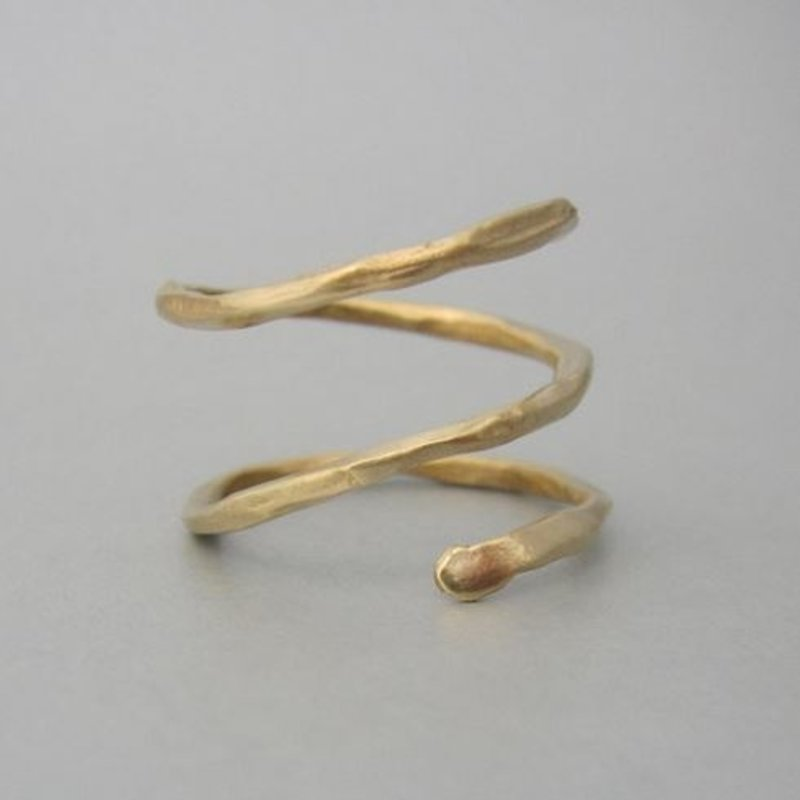 Maddalena Bearzi Arbusto Adjustable Hammered Bronze Ring