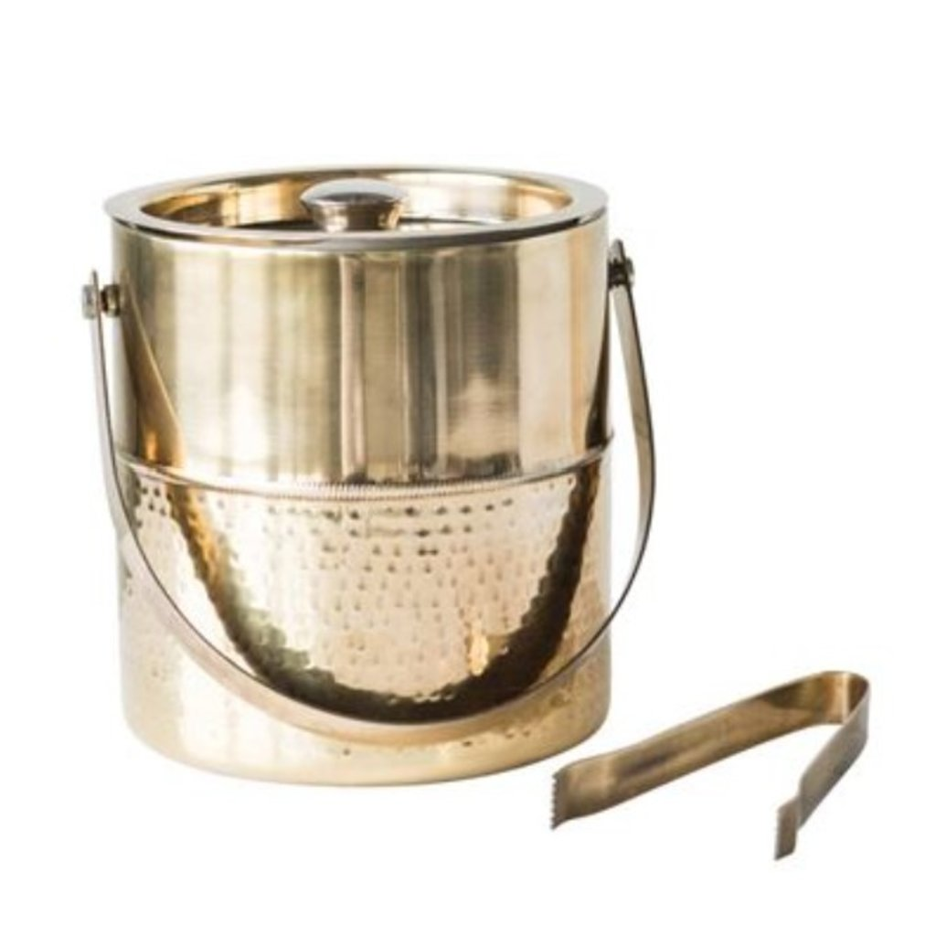 "S/2 7"" Round x 7""H Stainless Ice Bucket"