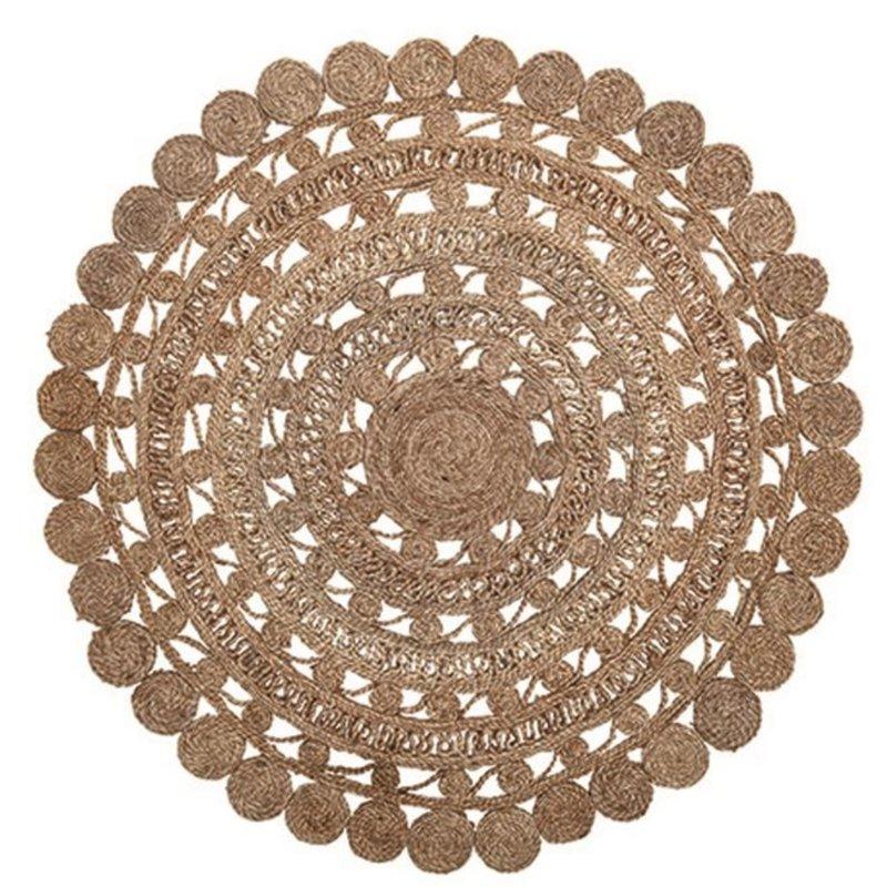 Round Hand-Woven Jute Rug