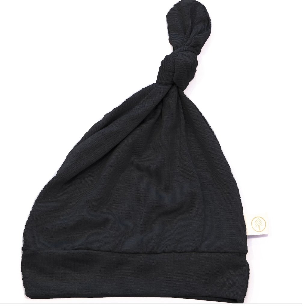 Bamboo Knot Top Hat 0/6 mo Black