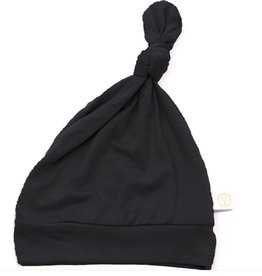 Tenth & Pine Bamboo Knot Top Hat 0/6 mo | Black
