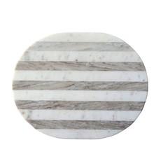 Cheese/Cutting Board, Grey & White Stripe