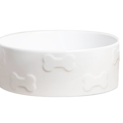 Manor White Pet Bowl