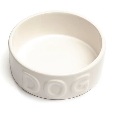 Classic Dog White Pet Bowl Medium