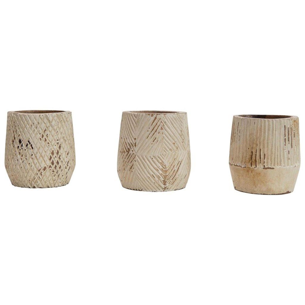 Hand Carved Mango Wood Planter