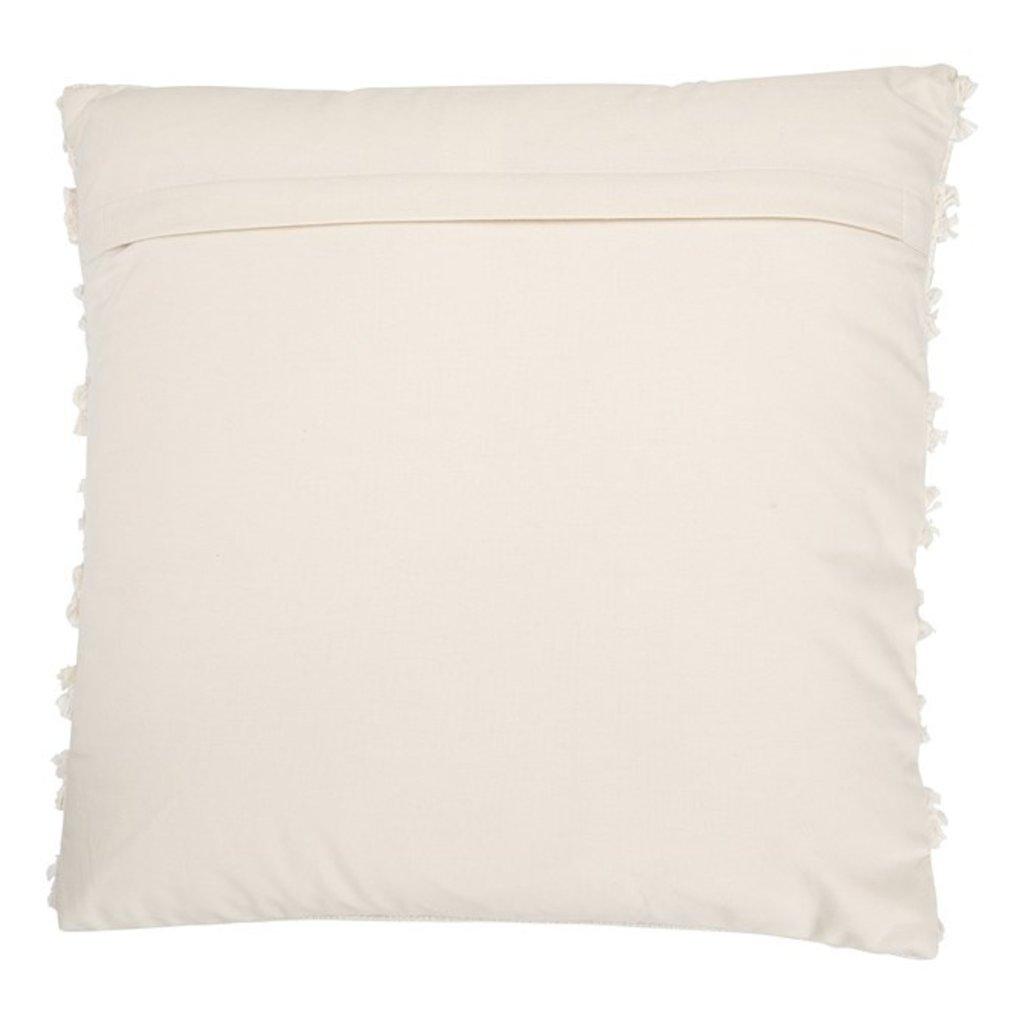 Square Woven Cotton Pillow w/ Fringe