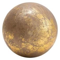 Coop Gold Foil Finish Round Mango Wood Orb Set of 3