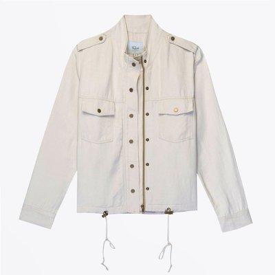 Collins Lightweight Zippered Jacket Bone
