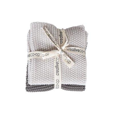 Coop Square Cotton Knit Dish Cloths Set of 2