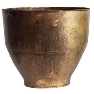 Metal Planters Antique Brass L