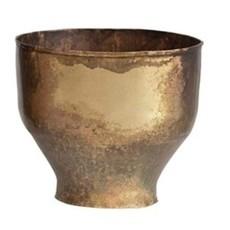 Metal Planters Antique Brass S