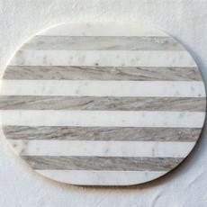 Coop Cheese/Cutting Board, Grey & White Stripe