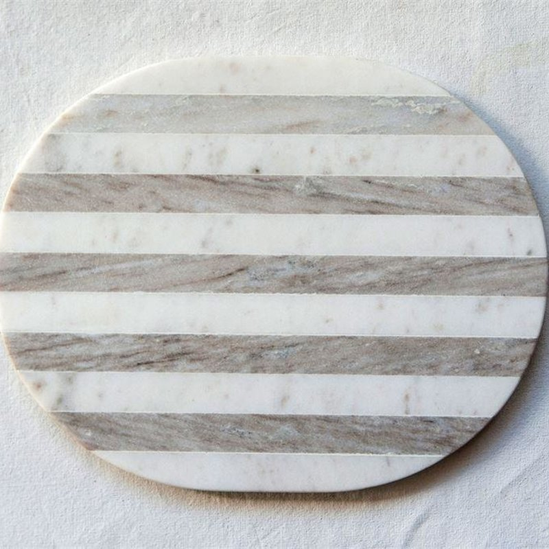 Cheese/Cutting Board, Grey & White Stripe
