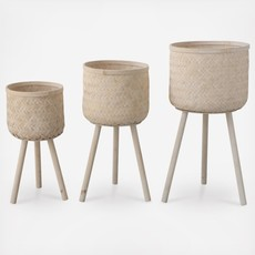 "M Woven Bamboo Baskets  25-1/2""H"