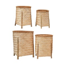 Large Woven Bamboo Basket w/ Legs