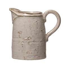 Stoneware Pitcher, Reactive Glaze