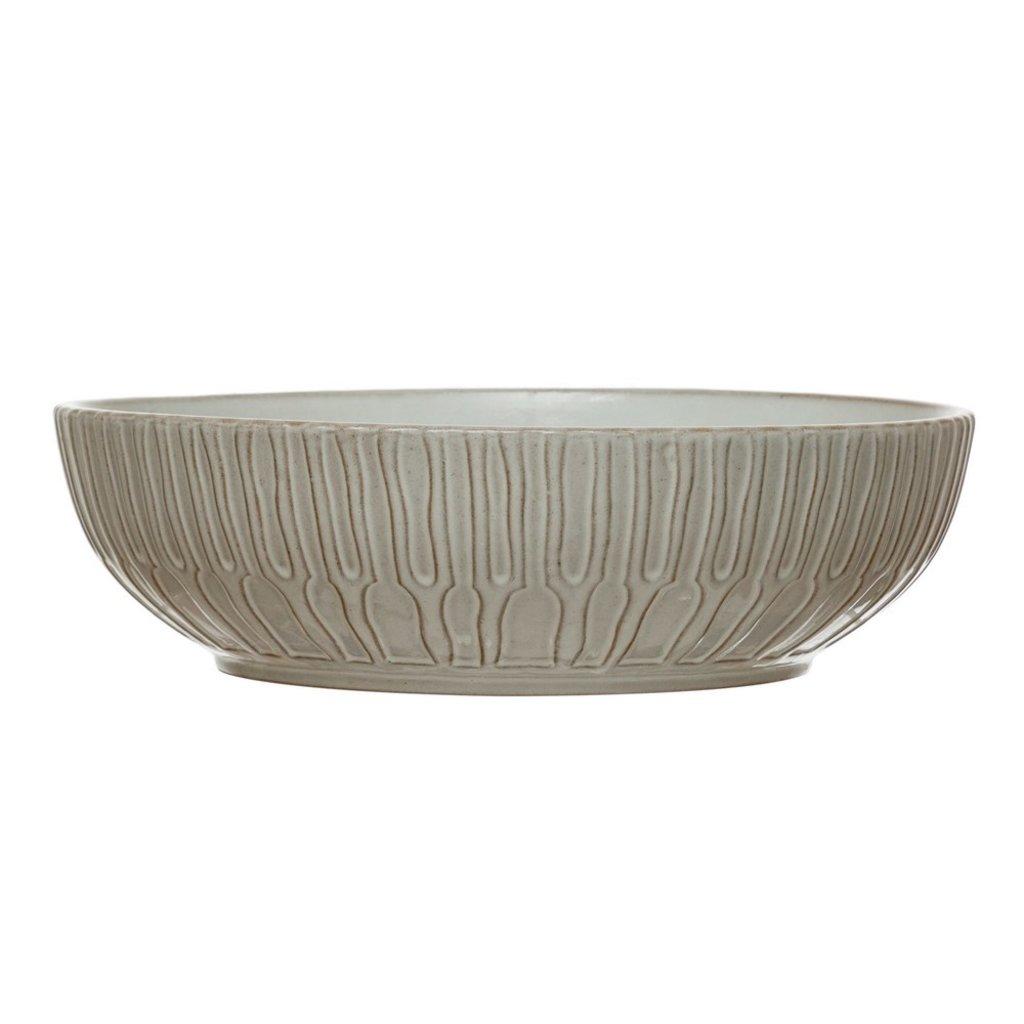Debossed Stoneware Bowl