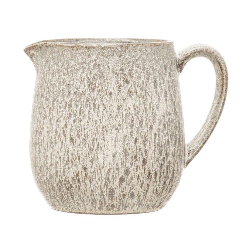 Cream Reactive Glaze Stoneware Creamer