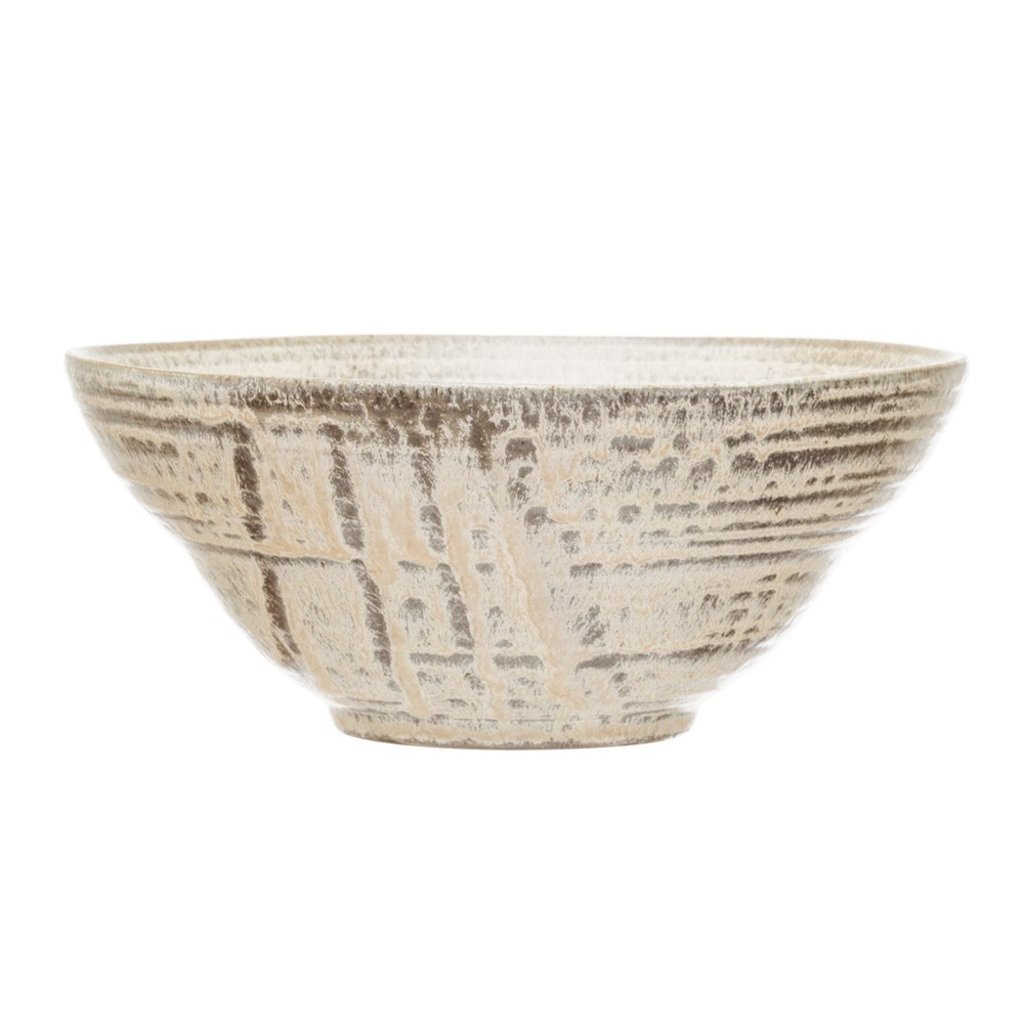 Cream Reactive Glaze Stoneware Bowl