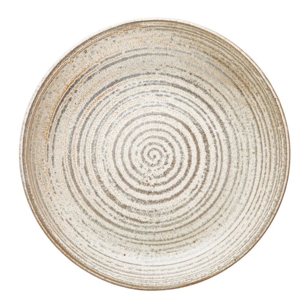 "8-3/4"" Round x 2""H Stoneware Bowl, Reactive Glaze"