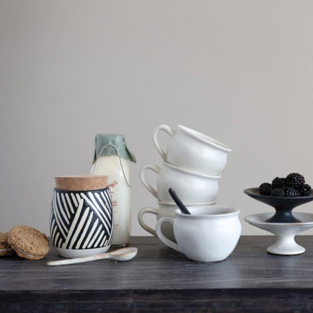 Matte Stoneware Mug, Set of 4