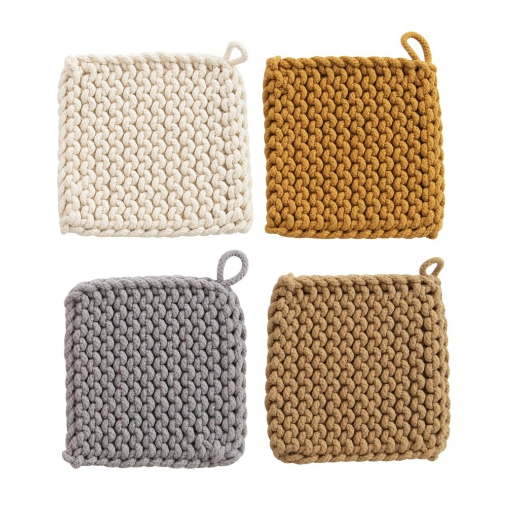Square Cotton Crocheted Potholder