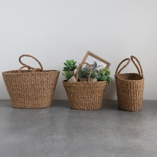 Large Hand Woven Seagrass Tote w/ Handles