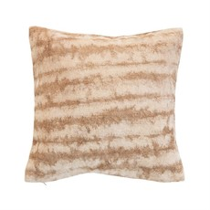 Cotton Blend Tie-Dyed Pillow, Brown & Beige