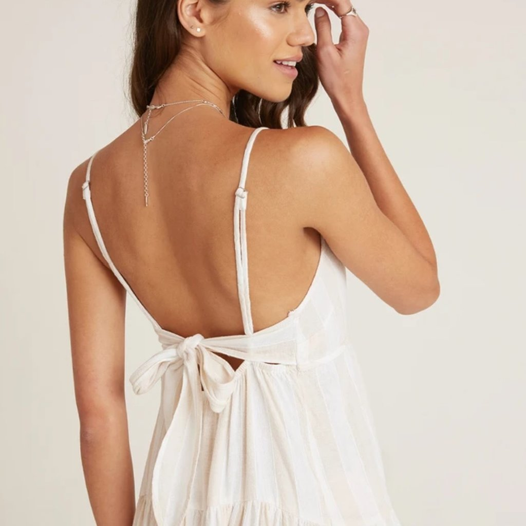 Bella Dahl TIERED TIE BACK MAXI DRESS