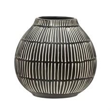 Debossed Stoneware Vase