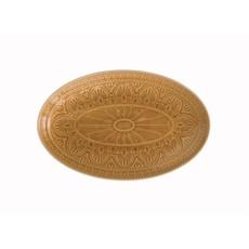 Mustard Crackle Glaze Stoneware Oval Platter