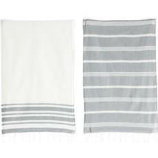 Cotton Woven Tea Towel, Set of 2