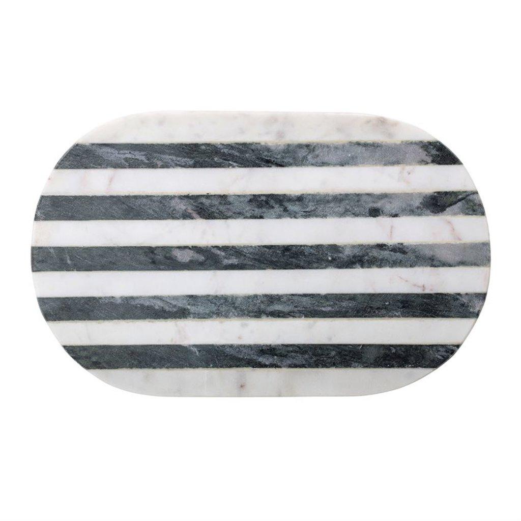 Tray/Cutting Board w/ Black & White Stripe